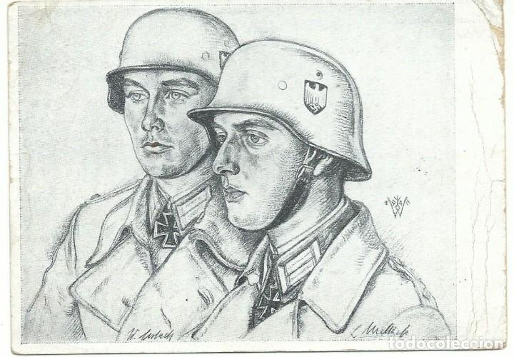 ESCUADRILLA AZUL (DIVISON AZUL) LUFTWAFFE ESPAÑOL HERIDO 1943 (Militar - Propaganda y Documentos)