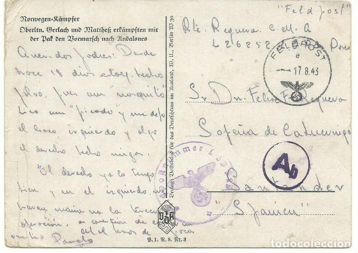 Militaria: ESCUADRILLA AZUL (DIVISON AZUL) LUFTWAFFE ESPAÑOL HERIDO 1943 - Foto 2 - 163346426