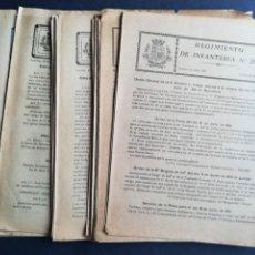 Militaria: 45 ÓRDENES SERVICIO DE LA PLAZA REGIMIENTO DE INFANTERÍA LÉRIDA Nº 25 - AÑO 1931. Lote 163512774