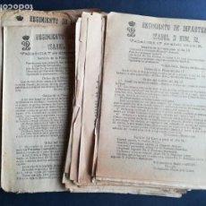 Militaria: 70 ÓRDENES SERVICIO DE LA PLAZA REGIMIENTO DE INFANTERÍA ISABEL II Nº 32 - AÑOS 1918 Y 1919. Lote 163512978