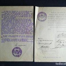 Militaria: 2 DOCUMENTOS 1927 REGIMIENTO INFANTERÍA GUADALAJARA PRIMER BATALLÓN - COLOCACIÓN MACHETE. Lote 163520674