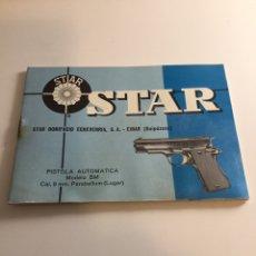 Militaria: MANUAL PISTOLA STAR BM. Lote 163522160