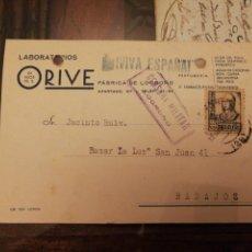Militaria: LOGROÑO. CENSURA MILITAR. 11 DICIEMBRE 1937. ORIVE. Lote 163788221