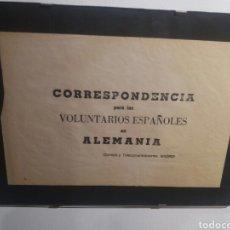 Militaria: CARTEL DIVISION AZUL. CORRESPONDENCIA VOLUNTARIOS ESPAÑOLES. Lote 163989334