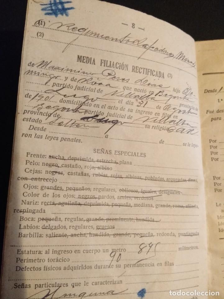 Militaria: Cartilla militar de 1923 con su funda - Foto 4 - 164187254