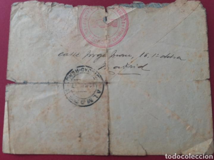 Militaria: Carta Madrid a Almaden. Ciudad Libre. 1937. FRENTE POPULAR ANTIFASCISTA de EL PEDROSO. SEVILLA - Foto 2 - 165018326
