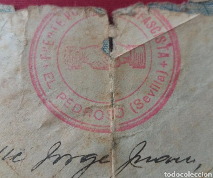 Militaria: Carta Madrid a Almaden. Ciudad Libre. 1937. FRENTE POPULAR ANTIFASCISTA de EL PEDROSO. SEVILLA - Foto 3 - 165018326