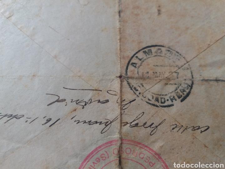 Militaria: Carta Madrid a Almaden. Ciudad Libre. 1937. FRENTE POPULAR ANTIFASCISTA de EL PEDROSO. SEVILLA - Foto 4 - 165018326