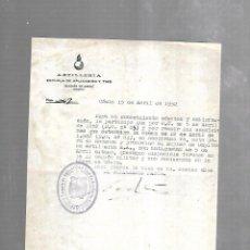Militaria: REGIMIENTO DE ARTILLERIA APLICACION DE TIRO. 1952. ACTO PARA ASCENSO. Lote 165160482