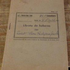 Militaria: CORTEGANA, HUELVA, 1959, LIBRETA HABERES GUARDIA CIVIL. Lote 165231550