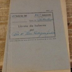Militaria: CORTEGANA, HUELVA, 1963, LIBRETA HABERES GUARDIA CIVIL. Lote 165231662