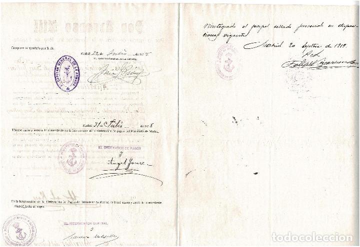 Militaria: NOMBRA AUXILIAR DEL CUERPO JURIDICO DE LA ARMADA. SANTANDER 1918 - Foto 2 - 165527078