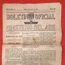 Militaria: BOLETIN OFICIAL DEL MINISTERIO DEL AIRE SAENZ DE BUROAGA MARTES 10 DE MAYO DE 1949 NUM 54 . Lote 166004542