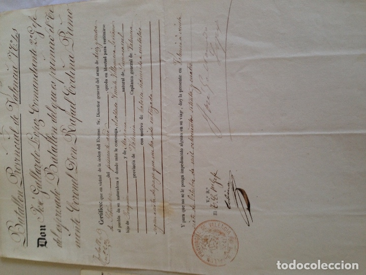 Militaria: Documento militar antiguo - Foto 2 - 166147498
