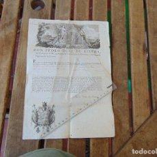Militaria: DOCUMENTO DON PEDRO DIAZ DE RIVERA CONSEJO S. M. CONSEJO SUPREMO DE GUERRA 1826. Lote 166179954