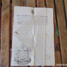 Militaria: DOCUMENTO DON JOAQUIN NAVARRO Y SANGRAL INSPECTOR CORONEL ARTILLERIA DE ESPAÑA Y INDIAS 1834. Lote 166180574