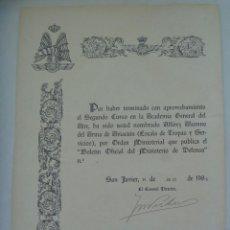 Militaria: AVIACION - ACADEMIA GENERAL DEL AIRE : NOMBRAMIENTO ALFEREZ ALUMNO. SAN JAVIER, 1988. Lote 166830978