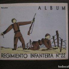 Militaria: ZARAGOZA-REPUBLICA-ALBUM REGIMIENTO INFANTERIA-VER FOTOS-(V-17.280). Lote 166940620