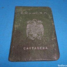 Militaria: CARTILLA, CONSEJO ORDENADOR DE LAS CONSTRUCCIONES NAVALES MILITARES DE CARTAGENA, JUNIO 1941. Lote 166994472