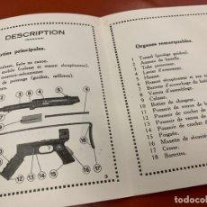 Militaria: ANTIGUO MANUAL DESPLEGABLE O GUIA DE AMETRALLADORA, PISTOLET MITRALLEUR. 1A EDICION 1949. RARO. Lote 167500828