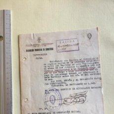 Militaria: DIVISIÓN AZUL, OFICIO RELACIONADO CON SALARIOS VOLUNTARIOS. Lote 167564960
