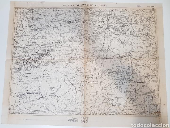 ANTIGUO / MAPA MILITAR ITINERARIO DE ESPAÑA / AÑO 1945 / EJEMPLAR SELLADO (Militar - Propaganda y Documentos)
