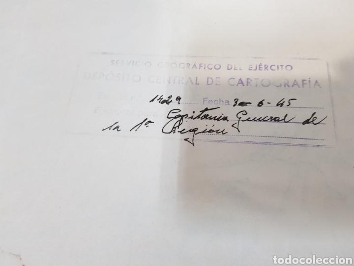 Militaria: ANTIGUO / MAPA MILITAR ITINERARIO DE ESPAÑA / AÑO 1945 / EJEMPLAR SELLADO - Foto 4 - 167778489