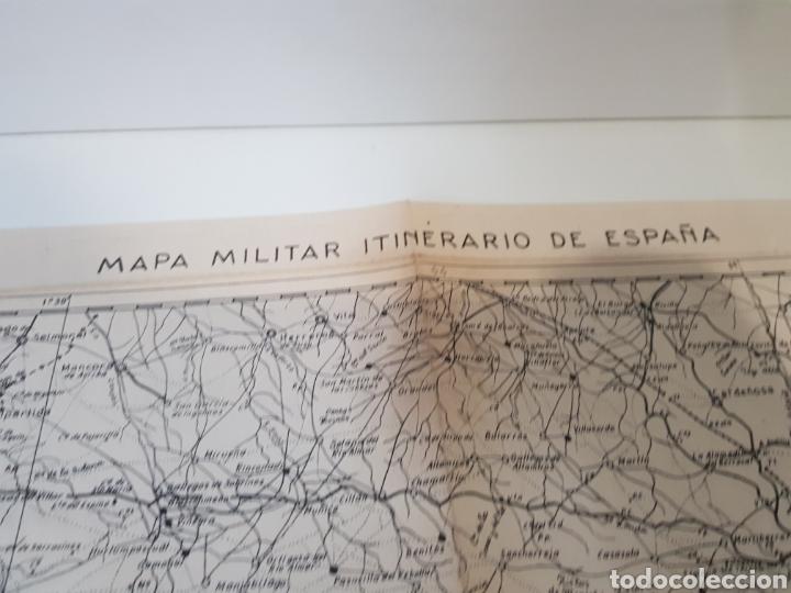 Militaria: ANTIGUO / MAPA MILITAR ITINERARIO DE ESPAÑA / AÑO 1945 / EJEMPLAR SELLADO - Foto 7 - 167778489