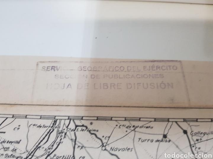 Militaria: ANTIGUO / MAPA MILITAR ITINERARIO DE ESPAÑA / AÑO 1945 / EJEMPLAR SELLADO - Foto 8 - 167778489