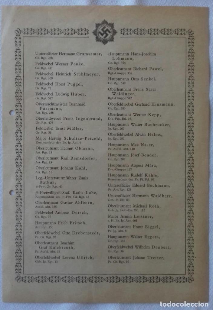 PUBLICACION CONCESIONES DKIG - ORIGINAL ALEMANIA TERCER REICH (Militar - Propaganda y Documentos)