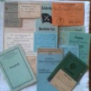 Militaria: LOTE DE 19 DOCUMENTOS E INSIGNIA DRA DESDE 1933 A 1943 A LA MISMA PERSONA. ALEMANIA TERCER REICH . Lote 167956256