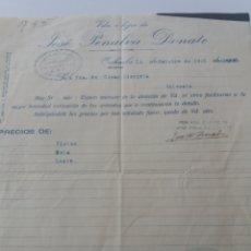 Militaria: ORIHUELA. ALICANTE. JOSÉ PENALVA. VDA. COMITÉ CONTROL UGT. 1938. Lote 167970321