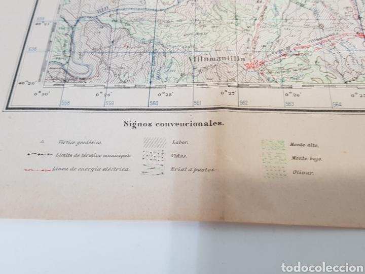Militaria: ANTIGUO PLANO EDICIÓN MILITAR / 3 edición 1944 / VILLAVICIOSA DE ODÓN. - Foto 3 - 167992385