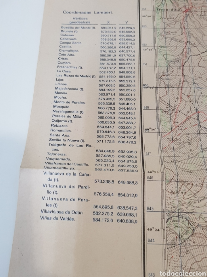 Militaria: ANTIGUO PLANO EDICIÓN MILITAR / 3 edición 1944 / VILLAVICIOSA DE ODÓN. - Foto 5 - 167992385