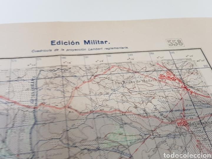 Militaria: ANTIGUO PLANO EDICIÓN MILITAR / 3 edición 1944 / VILLAVICIOSA DE ODÓN. - Foto 6 - 167992385