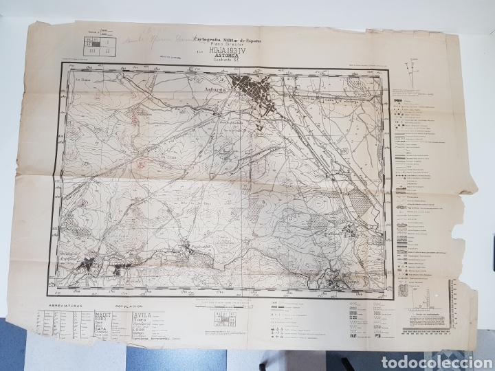 PLANO DIRECTOR MILITAR EDICIÓN LIMITADA / AÑO 1944 / CARTOGRAFÍA MILITAR DE ESPAÑA / ASTORGA (Militar - Propaganda y Documentos)