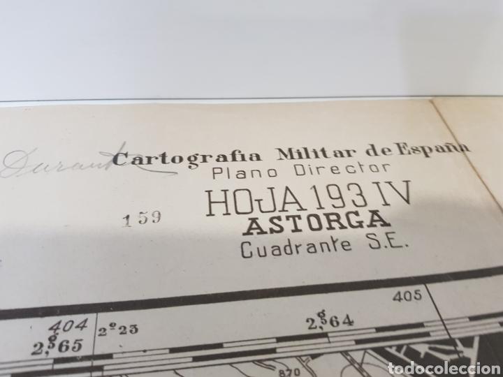 Militaria: PLANO DIRECTOR MILITAR EDICIÓN LIMITADA / AÑO 1944 / CARTOGRAFÍA MILITAR DE ESPAÑA / ASTORGA - Foto 3 - 167995533