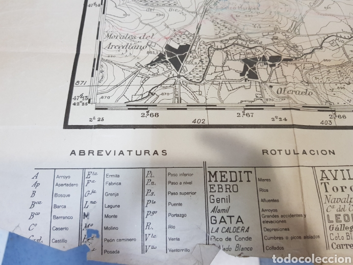 Militaria: PLANO DIRECTOR MILITAR EDICIÓN LIMITADA / AÑO 1944 / CARTOGRAFÍA MILITAR DE ESPAÑA / ASTORGA - Foto 9 - 167995533