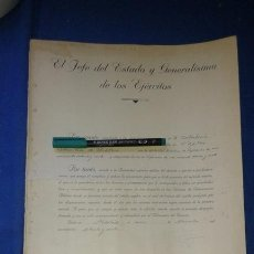Militaria: DOCUMENTO MILITAR DESPACHO D CAPITAN AUXILIAR DE ARTILLERIA - FIRMA TAMPON FRANCISCO FRANCO 1974/75. Lote 168090616