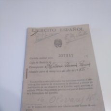 Militaria: CARTILLA MILITAR 1944 SEGUNDA LEGIÓN AVIACIÓN EJÉRCITO DEL AIRE SEVILLA. Lote 168424192