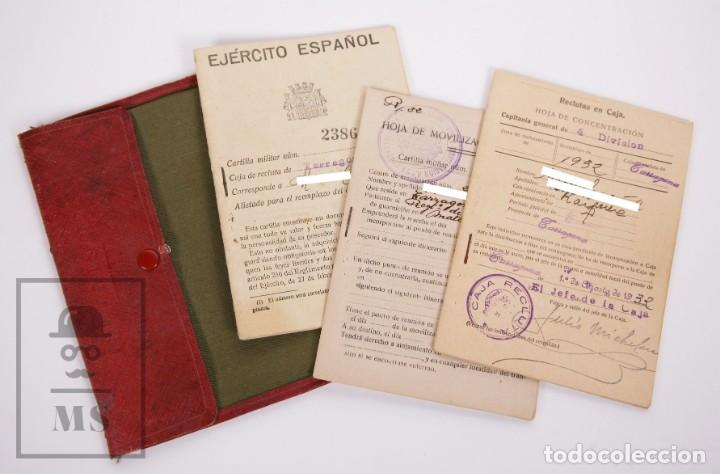 CARTILLA MILITAR DEL EJÉRCITO - CARTILLA, HOJA MOVILIZACIÓN, HOJA CONCENTRACIÓN - TARRAGONA, 1932 (Militar - Propaganda y Documentos)
