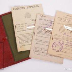 Militaria: CARTILLA MILITAR DEL EJÉRCITO - CARTILLA, HOJA MOVILIZACIÓN, HOJA CONCENTRACIÓN - TARRAGONA, 1932. Lote 168704880