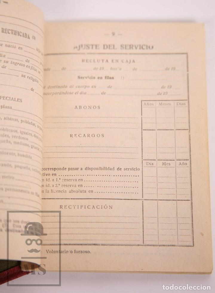 Militaria: Cartilla Militar del Ejército - Cartilla, Hoja Movilización, Hoja Concentración - Tarragona, 1932 - Foto 4 - 168704880