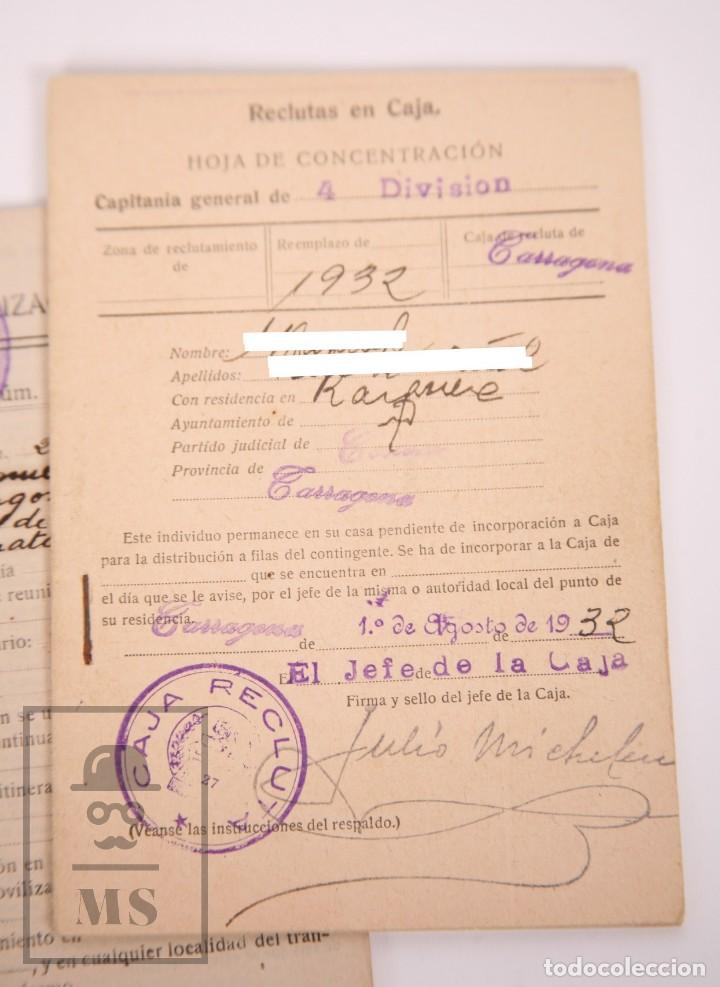 Militaria: Cartilla Militar del Ejército - Cartilla, Hoja Movilización, Hoja Concentración - Tarragona, 1932 - Foto 6 - 168704880