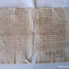 Militaria: DOCUMENTO DE DOS HERMANOS MILITARES DANDO PODERES A UN HERMANO CADIZ 1818. Lote 168967284