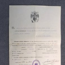 Militaria: MILITAR. LICENCIA ABSOLUTA TERCERA REGION MILITAR (A.1941). Lote 169023886