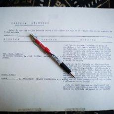 Militaria: EXCEPCIONAL DOCUMENTO Y ORIGINAL, MILLAN ASTRAY Y FRANCO. Lote 169042520