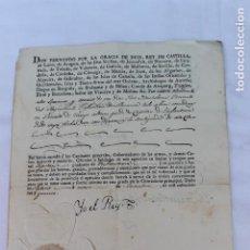 Militaria: FERNANDO VII 1815, NOMBRAMIENTO CAPITAN INFANTERIA, FIRMA REAL Y DEL CONDE DE MONTIJO. Lote 169046088