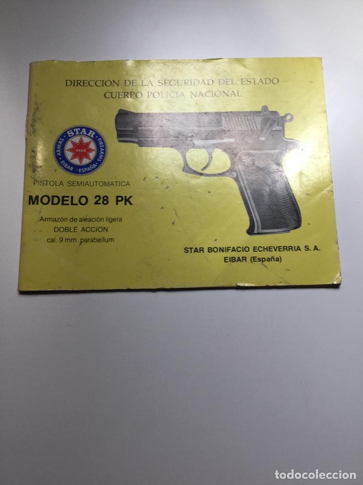 Militaria: Manual pistola Star modelo 28 PK Policía Nacional - Foto 2 - 169083097