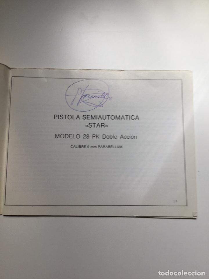 Militaria: Manual pistola Star modelo 28 PK Policía Nacional - Foto 3 - 169083097